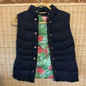 Lilly Pulitzer Navy Puffy Vest